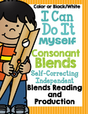 I Can Do It Myself Consonant Blends-Self-Correcting and Di