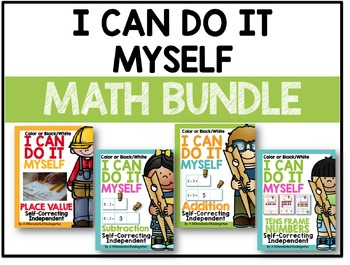 I Can Do It Myself Math Bundle - Self-Correcting and Differentiated