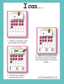 I Can Do It Myself-Tens Frame Numbers