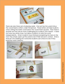 I Can Do It Myself-Vowel Team 'E': Self-Correcting and Differentiated