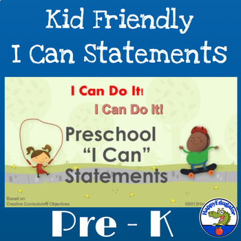 "Pre-K or Preschool ""I Can"" Statements for Back to School"