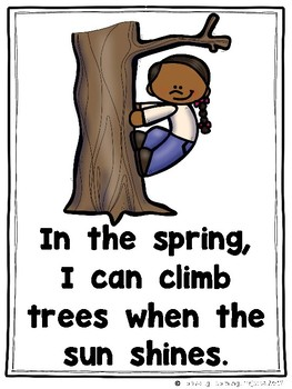I Can Do Lots of Things in the Spring (An Emergent Reader and Teacher Lap Book)