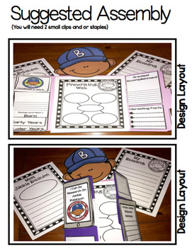 I Can Do Research On Jackie Robinson Lap Book (Black History Month)