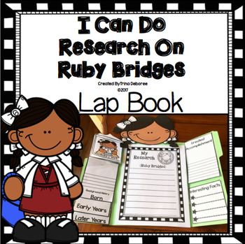 I Can Do Research On Ruby Bridges Lap Book (Black History Month)