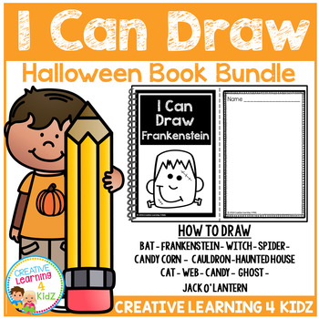 I Can Draw Halloween Book Bundle