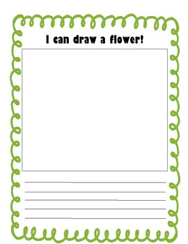 I Can Draw a Flower Writing Page