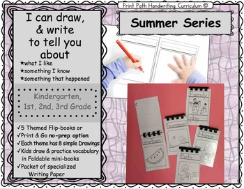I Can Draw and Write to Represent Ideas: Summer Series