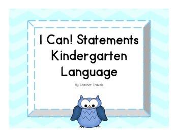 I Can! ELA Kindergarten Language Colorful Owl Theme
