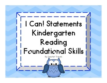 I Can! ELA Kindergarten Reading Foundational Skills Colorf