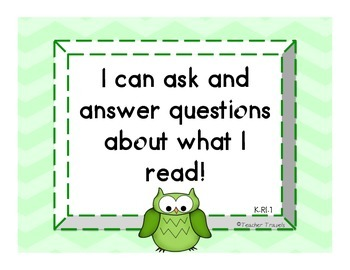 I Can! ELA Kindergarten Reading Informational Text Colorful Owl Theme