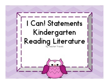 I Can! ELA Kindergarten Reading Literature Colorful Owl Theme