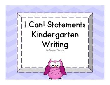 I Can! ELA Kindergarten Writing Colorful Owl Theme