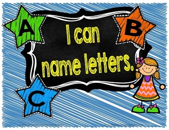 I Can... Early Childhood Language and Literacy Standards Signs