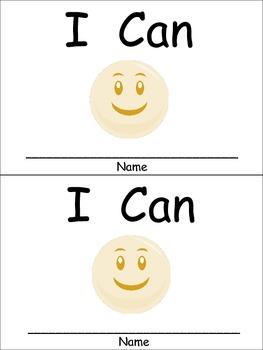 I Can Emergent Reader for Kindergarten Preschool