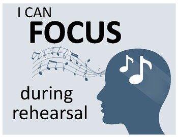 I Can FOCUS during rehearsal