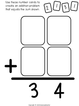 I Can Figure It Out! Math Reasoning Single and Double-Digit Numbers Bundle
