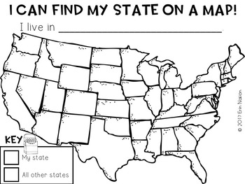 I Can Find My State on a Map!