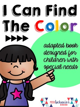 I Can Find The Color - Adapted Book