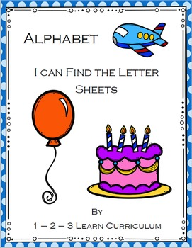 I Can Find the Letter - Worksheets