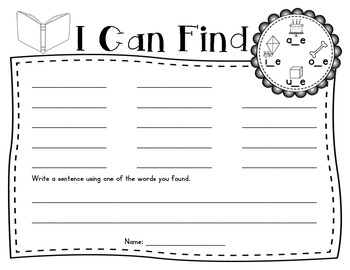 I Can Find...Long Vowels and More! (Print and Go)