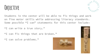 I Can Fix It! Literacy Center For Kindergarten - 1st Grade