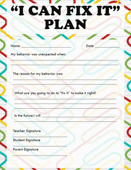 I Can Fix It Plan