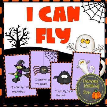 Halloween emergent reader, big book, student booklets, worksheets:  I Can Fly