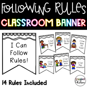 I Can Follow Classroom Rules Banner