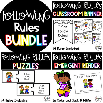 I Can Follow Classroom Rules Bundle!