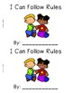 I Can Follow Classroom Rules Emergent Reader {In Color and Black & White!}