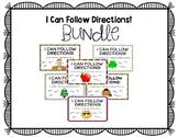 I Can Follow Directions! *Six Set Bundle*