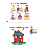 I Can Follow Directions Interactive Book (Prepositions)