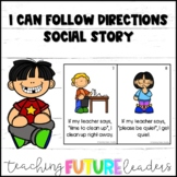 I Can Follow Directions Social Story