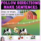 I Can Follow Directions and Make Sentences in Speech Therapy