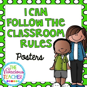 I Can Follow the Classroom Rules Posters and Coloring Pages