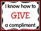 I Can GIVE and RECEIVE Compliments Posters:  14 Posters to Teach Social Skills
