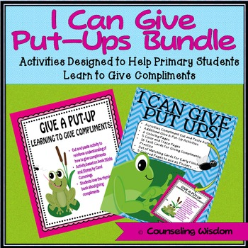 I Can Give Put-Ups Activity Bundle-Learning to Give Compliments