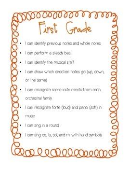 """I Can"" Grades 1/2 Curriculum Statements"
