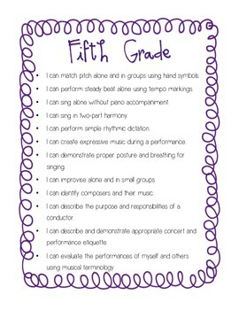"""I Can"" Grades 5/6 Curriculum Statements"