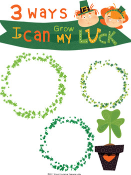 St. Patrick's Day Growth Mindset Poem, Worksheets, Coloring Pages, and Posters