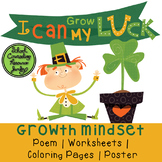 St. Patrick's Day Growth Mindset Poem, Worksheets, Colorin