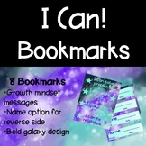 I Can! Growth Mindset Bookmarks