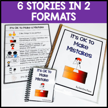 I Can Handle Making Mistakes Behavioral Toolkit with Social Stories