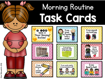 Task Cards: Morning Warm Up and Daily Routines