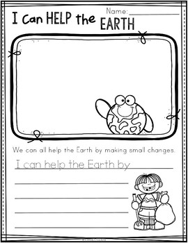 I Can Help the Earth By... {FREE}
