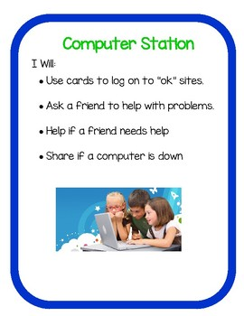 I Can/I Will Station Signs