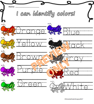 I Can Identify Colors!