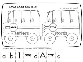 I Can Identify Letters, Words or Numbers!