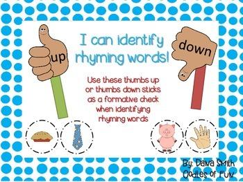 I Can Identify Rhyming Words!