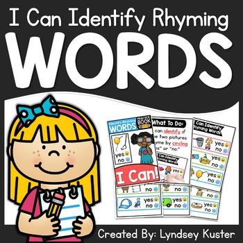 I Can Identify Rhyming Words